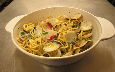 Spaghetti aux vongoles - Point du Jour - Genève